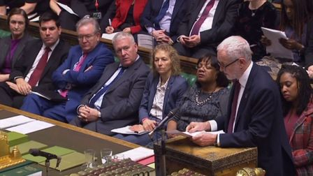 Labour party leader Jeremy Corbyn speaks during Prime Minister's Questions. Photo: PA Wire