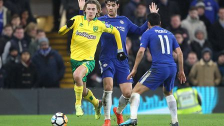 Todd Cantwell made his Norwich City debut at Stamford Bridge. Picture: Paul Chesterton/Focus Images
