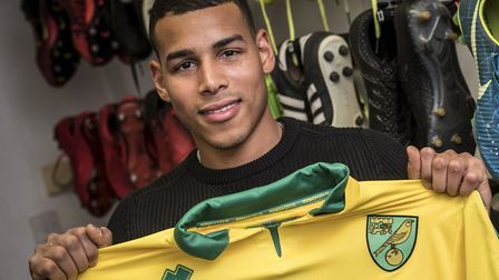 Onel Hernandez was one of two Norwich City signings unveiled on Thursday. Picture: Jasonpix/Norwich