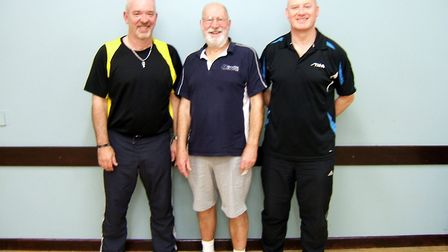 SFC A, from left to right Andy Cullum, Paul Elsegood and Paul Arthurs. Picture: Paul Elsegood