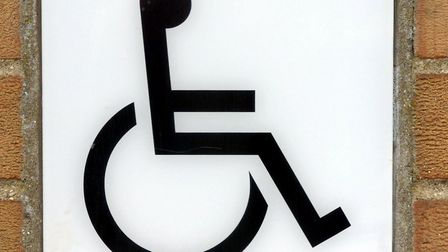 Disabled toilet sign. Picture: Bill Darnell Copy: Stephen Pullinger For: EDP © EDP Pictures 2004