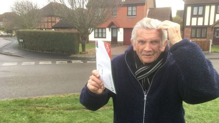 Trevor Broadbent is angry a post box in Caister will not be replaced after it was knocked down by a