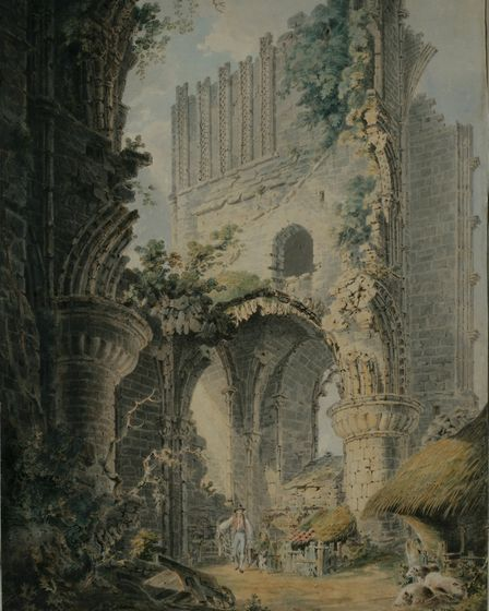 Norfolk Museums Service has loaned this JMW Turner watercolour of Malmesbury Abbey to four museums i