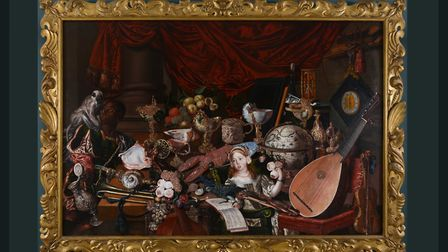 Norfolk Museums Service is loaning this painting, called The Paston Treasure or The Yarmouth Collect
