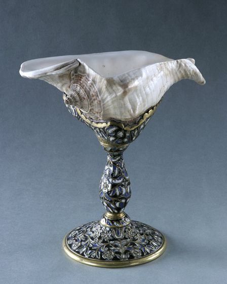 Norfolk Museums Service is loaning this Strombus shell cup to Yale Center for British Art, in Americ