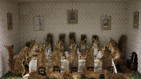 Norfolk Museums Service has loaned this taxidermy work, known as the Squirrels' Tea Party, to the Sa