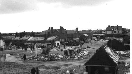 In the immediate aftermath of the 1953 Floods, Tony Palmer took this photograph of the destruction a