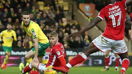 Marley Watkins has struggled for form since joining Norwich City as a free agent in the summer. Pict