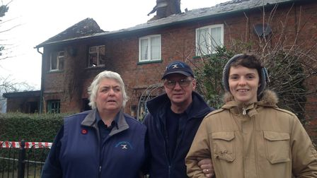 The Hodgson family - Sandra, Ian and Sarah - lost everything in their family home of 34 years after