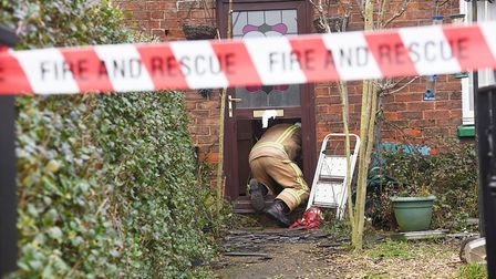 Fire investigators were at the scene on Wednesday morning. Picture: Ian Burt
