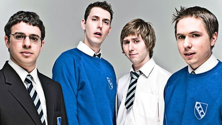 The Inbetweeners - Will, Neil, Jay and Simon, legends in their own lunchtime (c) Channel 4