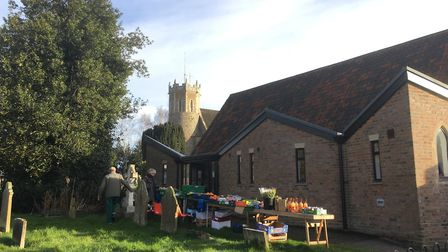 Acle Church Hall on market day. Picture: David Hannant