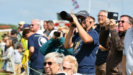 A crowd-puller - Old Buckenham Air Show last year. Picture: Mark Bullimore