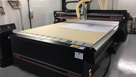 The Tekcel 4m x 2m flatbed CNC (computer numerical control) router bought by Norwich graphics franch