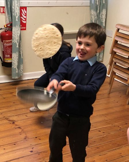 Children at St Nicholas House School, in North Walsham, enjoyed some early Pancake Day fun at the sc