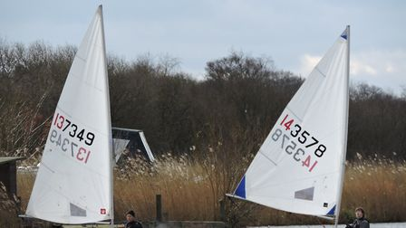 Action from Snowflakes Sailing Club. Picture: Paddy Wildman