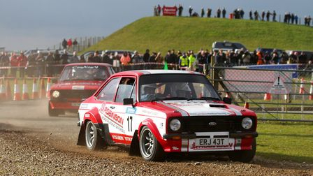 Downham Market's Stephen Tilburn pressing on in his Ford Escort Mk2 on his way to sixth overall last