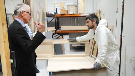 Norman Lamb MP visiting Oyster Yachts in Hoveton during a visit in 2014. Picture: ANTONY KELLY