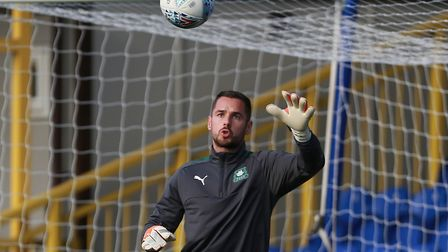 Norwich keeper Remi Matthews is on loan at Plymouth Argyle. Photo: Dave Rowntree/PPAUK