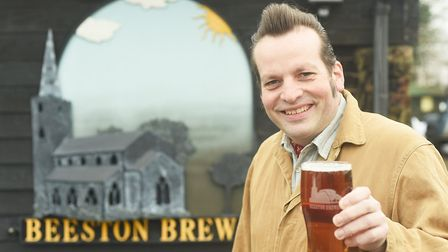 Nigel Morter with the new ale Drink to Remember. Picture: Ian Burt