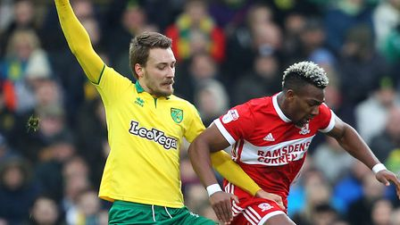 Injured midfielder Tom Trybull is set to miss most of Norwich City's Championship run in. Picture: P