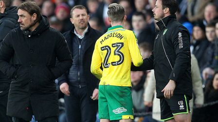 Gary Rowett and James Maddison exchanged words during a 1-1 Championship draw at Derby. Picture by P