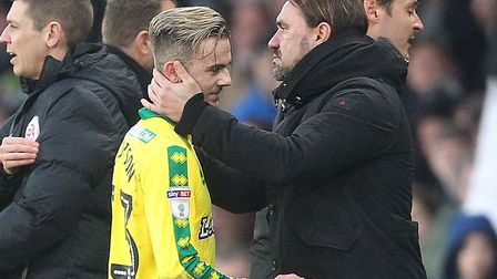 James Maddison was embroiled in a touchline spat with Derby boss Gary Rowett as he came off in Satur