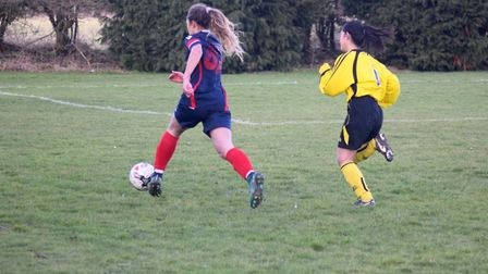 Action from Bure Valley Wildcats' 5-1 win over Freethorpe Ladies. Picture: Martin Redhead