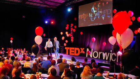 The TEDxNorwichED event from 2016. PHOTO BY SIMON FINLAY