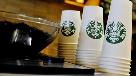 File photo of Starbucks takeaway cups. Nick Ansell/PA Wire