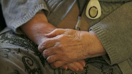 File photo of the hands of an elderly person. Photo: Jonathan Brady/PA Wire