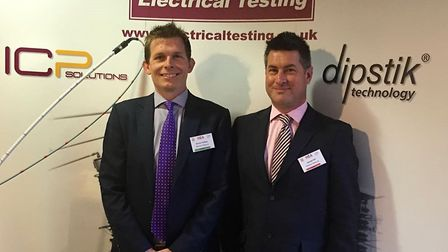 Electrical Testing Ltd managing director Simon Hobbs and sales director James Hill. Picture: Electri