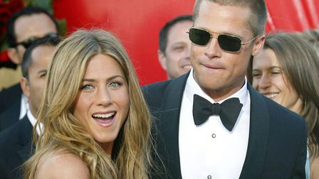 Actors Brad Pitt and Jennifer Aniston, arrive for the 56th Annual Emmy Awards, Sunday 19 September 2