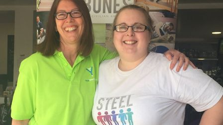 Your Telemarketing's Laura Morrison and Emma Joy-Staines of Steel Bones. Picture: Your Telemarketing