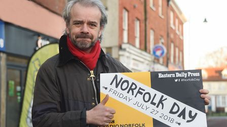 Chris Sargisson, chief executive Norfolk Chamber of Commerce, supporting Norfolk Day at the Eastern