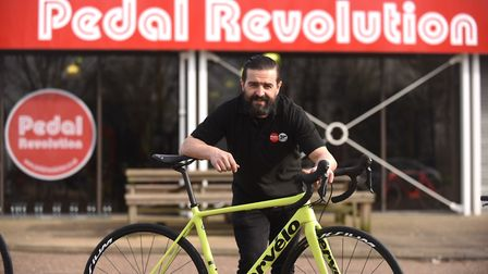 Jorge Vieira outside the new Pedal Revolution in King's Lynn. Picture: Ian Burt