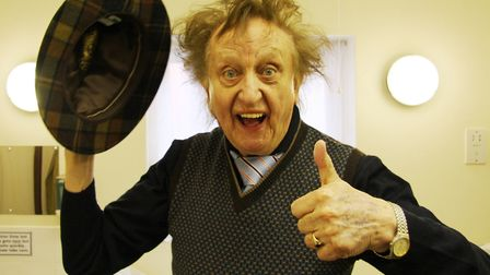 Sir Ken Dodd in his dressing room before a Norfolk show. Picture: MAURICE GRAY