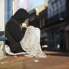 A homeless person on a street in Norfolk. Picture: IAN BURT