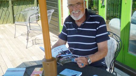 Chris Crowther and his Broads mystery novels. Picture - Crowther family