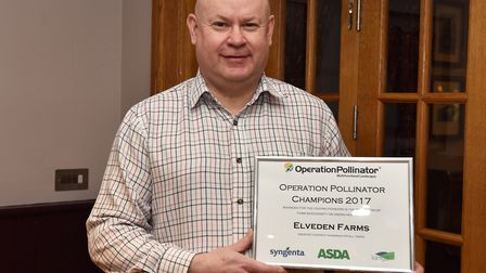 Andrew Francis at Elveden Farms, winner of an Operation Pollinator Green Headlands award. Picture: M