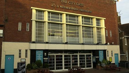 The City Gate pub on Dereham road, Norwich, part of the JD Wetherspoon group.photo Simon FinlaycopyF