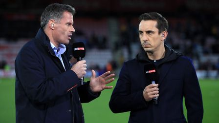 Sky Sports have broken up the Jamie Carragher, left, and Gary Neville double act by suspending Carra