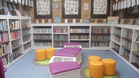 The new library at All Saints Academy in Stoke Ferry. PIcture: All Saints Academy