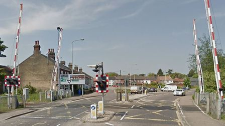 The railway barriers on Victoria Road in Lowestoft. Picture: Google