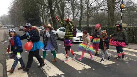 Members of a North Walsham zumba group held a 5k Conga through the streets of Norwich to raise money