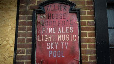 A sign at the Lord Kelvin pub, in King's Lynn. Picture: Chris Bishop