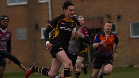 Sammy Harmer in action for Southwold against West Norfolk. Picture: Southwold RFC