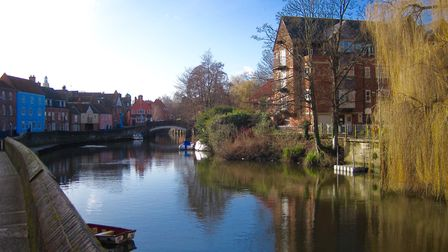 River Wensum reflections on a bright but cold winter's day. Picture: Lydia Taylor