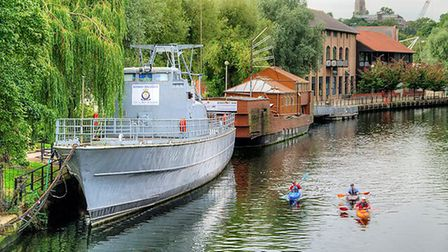 The TS Loard Nelson docked on the River Wensum in Norwich. Picture: David Dixon
