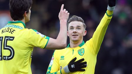 Will Norwich star James Maddison, pictured celebrating scoring a penalty against Reading on Saturday